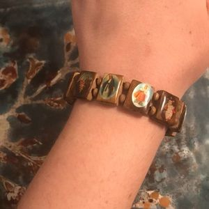 From the Holy Land: Olive wood Icon Bracelets